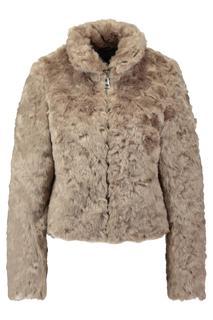 Dames Fake fur jas Kfur18 Bruin