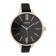 OOZOO Timepieces Black Croco horloge C7544