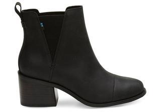 Zwarte Leren Esme Laarzen Schoenen