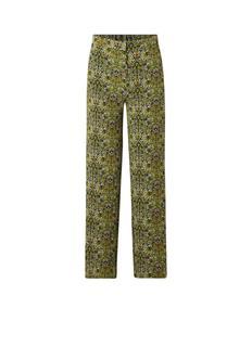 Leonie loose fit pantalon met bloemendessin