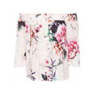 Dames shirt 3/4-mouw in roze - BODYFLIRT