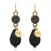 Crystal Earrings Black - Gold/Silver/Rose