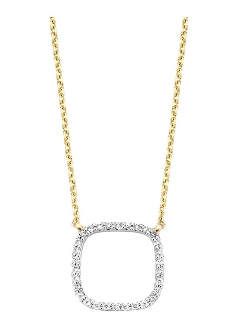 Diamond Point Gouden ketting met 0.11 ct diamant Alliance Kopen Goedkope 2018 Unisex n8jvPG
