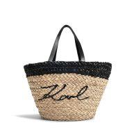 K/Ikonik Straw Shopper Bag in Natural Paper Straw