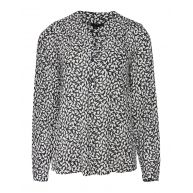 Dames all-over bird print blouse
