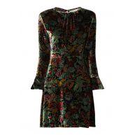 Sandro Swana jurk van fluweel met bloemendessin
