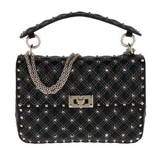Tasche - Rockstud Shoulder Bag Black in zwart voor dames