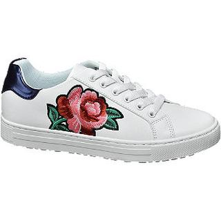 Witte sneaker embroidery