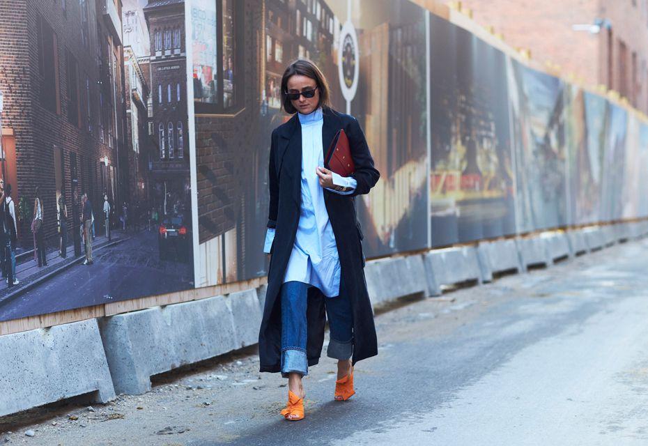 Blauwe mantel