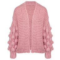 Handmade Knitted Cardigan - Light Pink