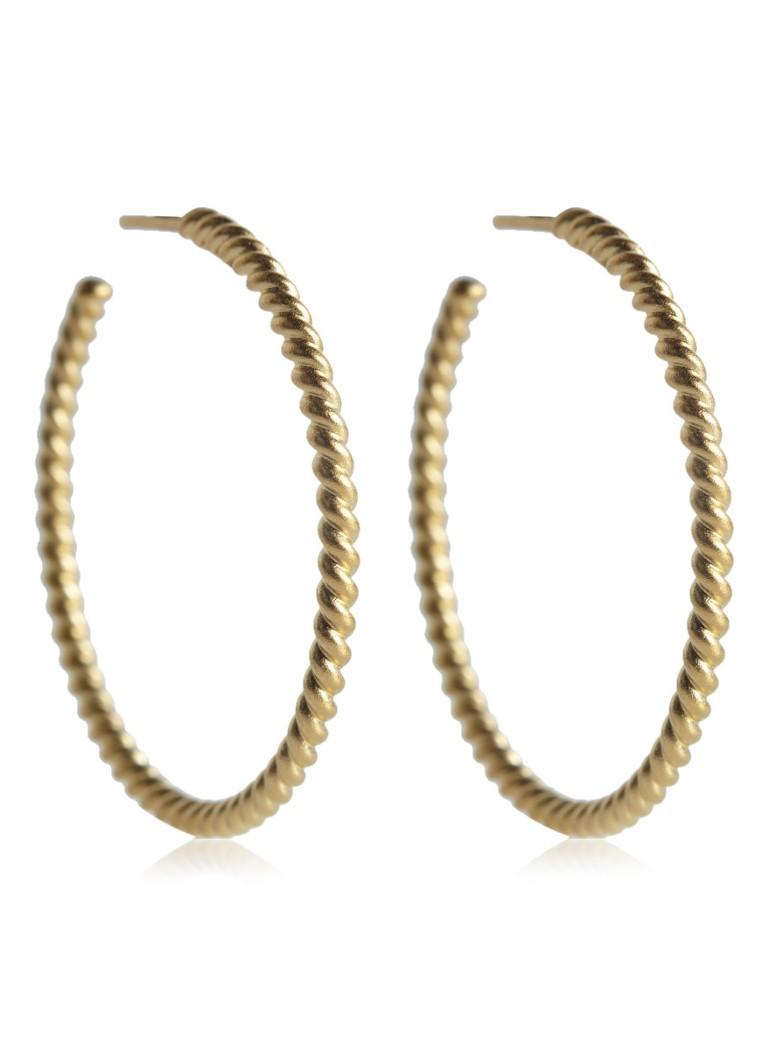 Julie Sandlau Creolen Twisted met 22k gouden plating Korting Manchester Outlet Grote Korting Gratis Verzending Modieuze Korting Echt 6pZmdb