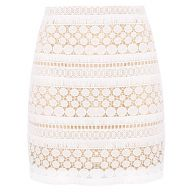 Chique Lace Skirt - White