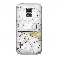 Samsung Galaxy S5 mini Hardcase hoesje Marble Geo Ivory