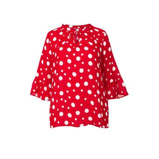 Plus top met stippen rood (dames)