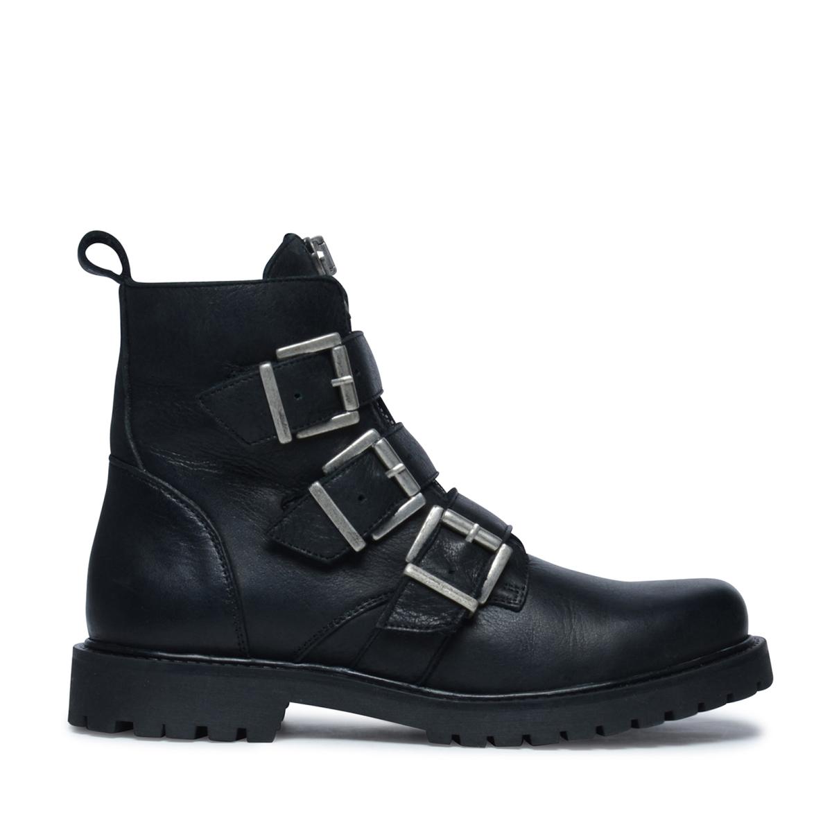 Echt Goedkoop Online Warm Te Koop Zwarte biker boots Klaring Verhandelbare kxUoCBKvt