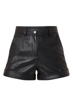 Lord high waist korte broek van leer