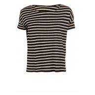 Denham - Linnen T-shirt Sprint   zwart-wit