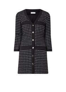 Mini-jurk van tweed met lurex