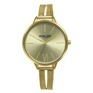 Donna Mae horloge met goud kleurige mesh band