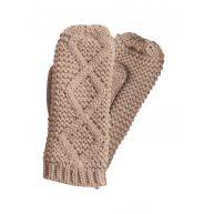 PIECES Gebreide Handschoenen Dames Bruin