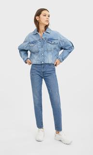 Slim mom jeans DAMES Donkerjeans 44
