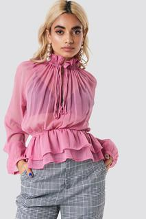 High Frill Neck Top