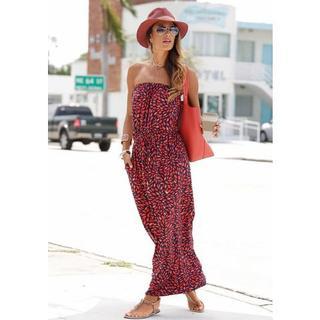 maxi-jurk in bandeaumodel