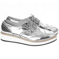 Silver Oxford Shoes