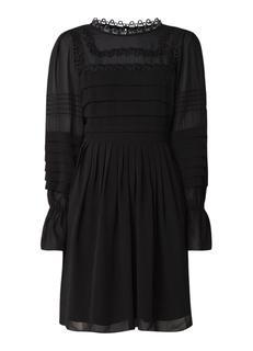 5964ec6b4ae232 Arrebel midi-jurk van crêpe met plissé detail