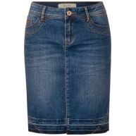 Rok met open zoom Ida - authentic indigo skirt wash