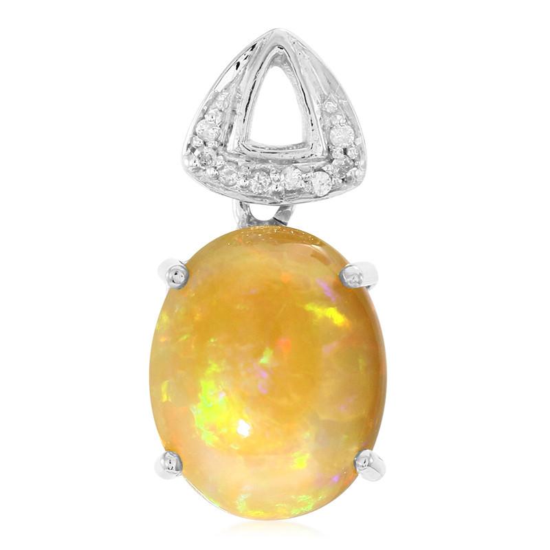 Juwelo Gouden hanger met een Kalimaya-Opaal Klaring 2018 Nieuwe MUgLS