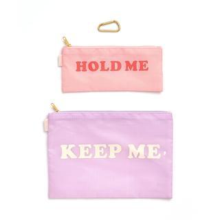 Carry all duo. Set van twee. Hold me. Keep me.