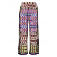 Wide ethnic style slip on trousers