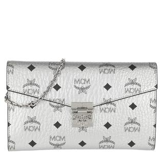 Tasche - Patricia Visetos Continental Wallet Large Berlin Silver in zilver voor dames - Gr. Large