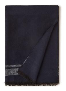 Sjaal met ingeweven streep 180 x 60 cm