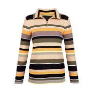 Sweatshirt Paola geel gestreept