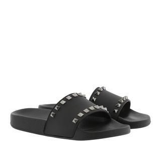 Sandalen - Rockstud PVC Flip Flop Black in zwart voor dames - Gr. 40 (EU)