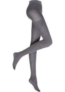 Dames maillot met structuur in grijs