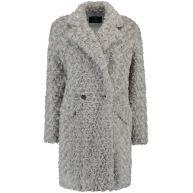 halflange fake fur jas