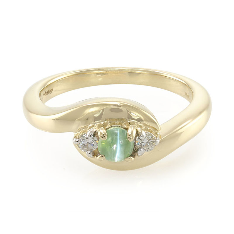 Juwelo Gull Ring Med En Cat's-alexandrite (molloy) Billigste Billig Online Ekte Ekte For Salg Billig Salg Forsyning NN5i2u