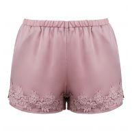 Oud roze satijnen broekje met kanten details en elastiek  Loavies