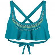 O'Neill Ruffle Bandeau Bikini Top Blauw Bikini's