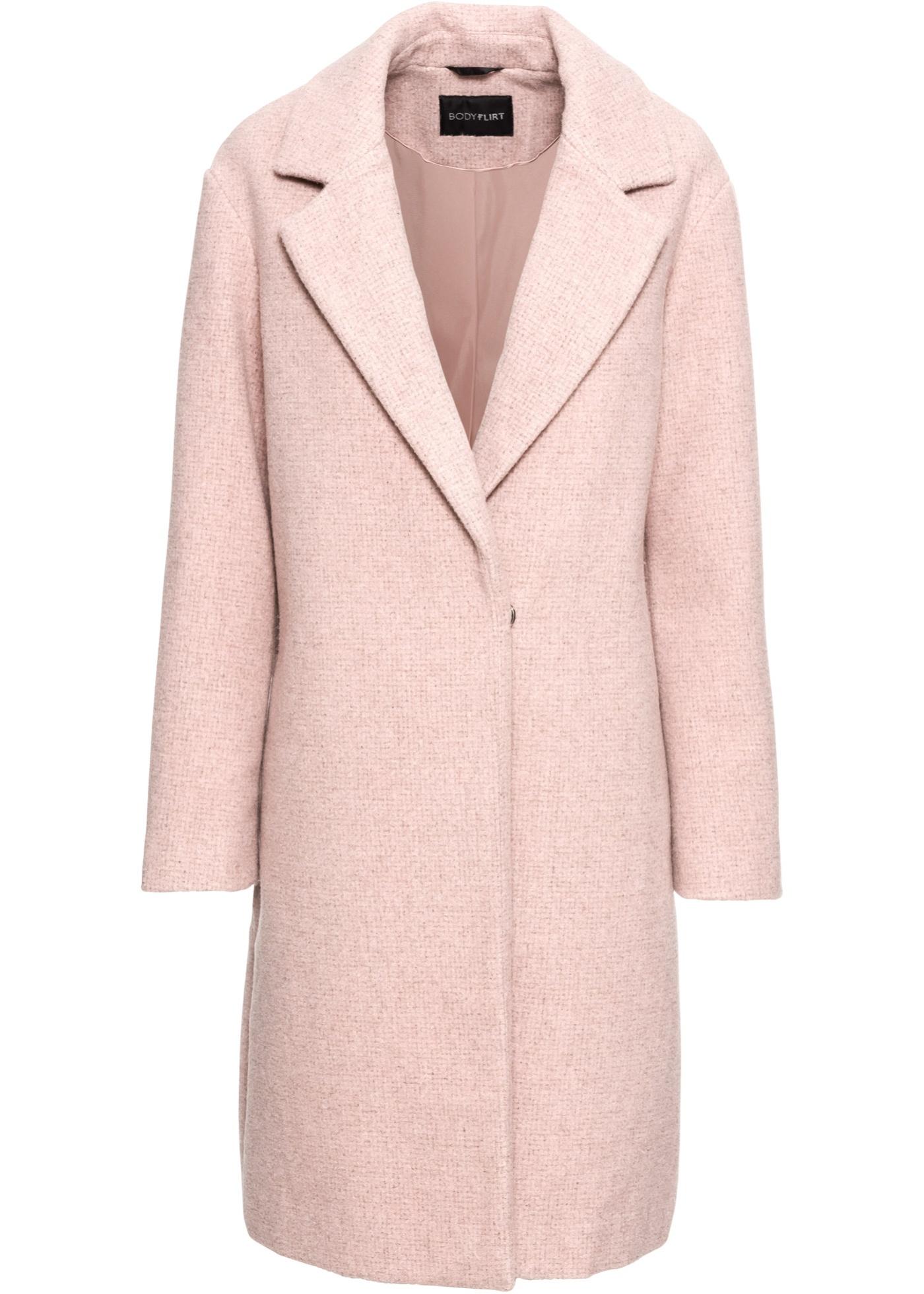 Mouw In Dames Coat Bodyflirt Lange Roze Korte vn8wOm0N