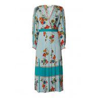 Sandro Maxi-jurk met bloemendessin en plissé