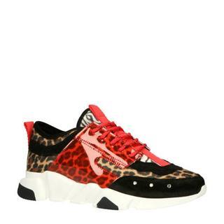 45.803 dad sneakers rood/panterprint
