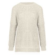Oversized Knitted Sweater - Beige