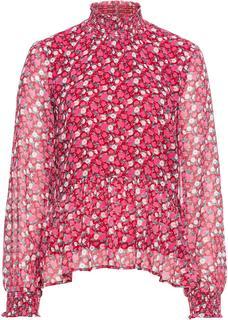 Dames blouse van chiffon lange mouw in rood