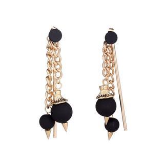 pom chain earrings