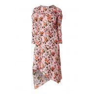 TOPSHOP Midi-jurk met bloemendessin en ruches
