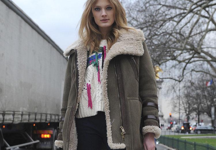 Blijf warm in de zachte lammy coat